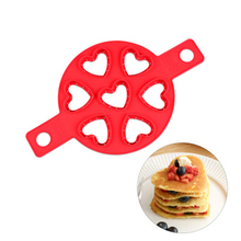 1 Pcs Nonstick Pancake Maker Egg Cooker Silicone Mold Heart Shape Omelette Chesse Molds New Cooking Tools
