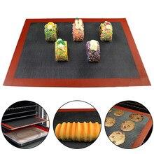 30*40cm perforado estera para hornear de silicona no-Stick horno hoja de galleta de Rolling tapetes para masa para pan/macarrones/bizcochos y galletas