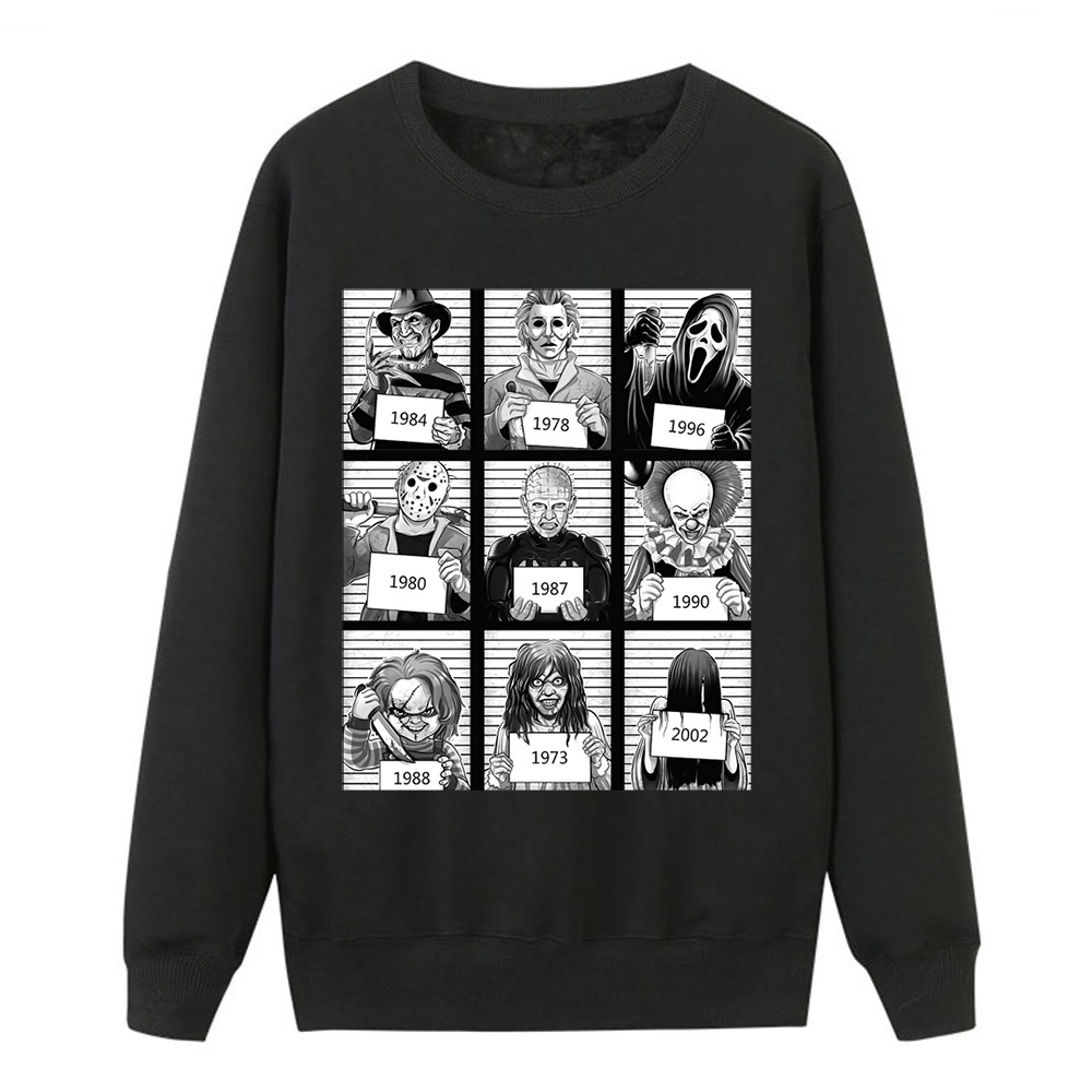 Horror Film The Texas Chainsaw Mas Sweatshirts Hoodies Women Fleece New Brand Sportswear Yamamura Sadako Winter Tracksuit Female