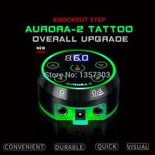 2019 nowy profesjonalny zasilacz do tatuażu Mini AURORA LCD z zasilacz do cewek i obrotowych maszyn do tatuażu
