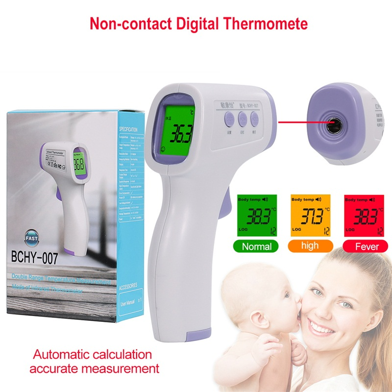 New Portable Non-Contact LCD IR Laser Infrared Digital Temperature Thermometer Gun Handheld Thermometer For Human Fast Delivery