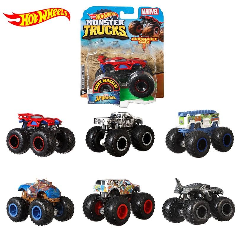 Original Hot Wheels Monster Trucks Model Car Diecast 1/64 Toys for Boys Big Foot Car Hot Gift New Arrival Carro Kids Toys FYJ44
