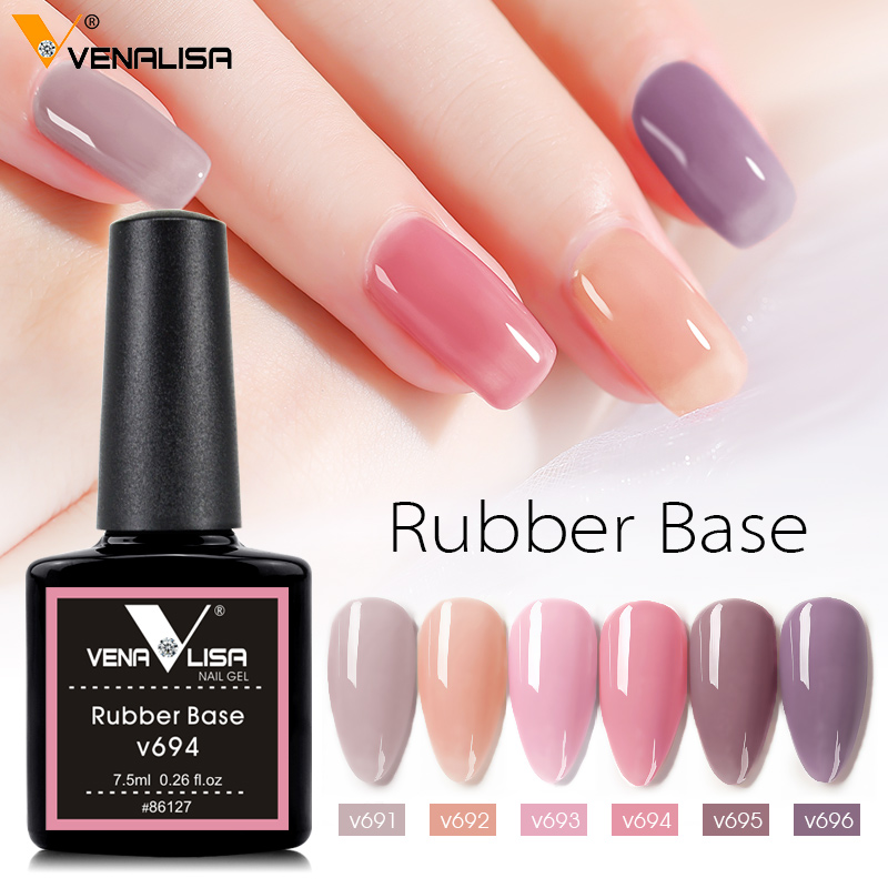 Venalisa new 7.5ml soak off camouflage natural nude color rubber base coat silicone rubber top coat rubber base gel nail polish