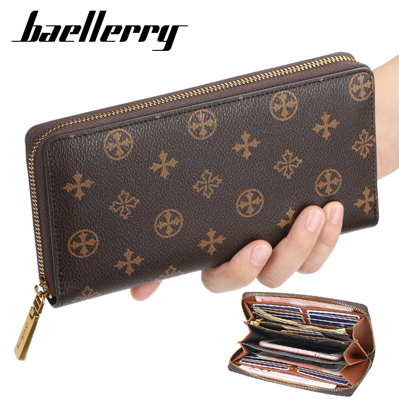 2020 Multi-functional Retro Purse Women's Wallet  Long Decorative Pattern Zipper Mobile Phone Louis Wallet Women's Card Holder