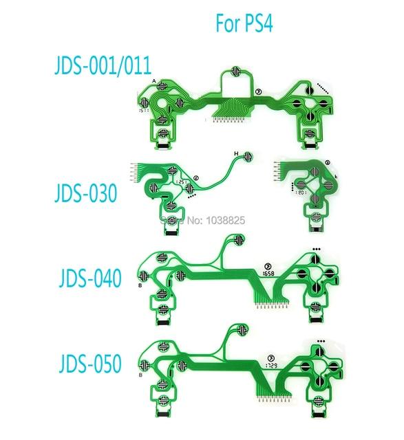 40pcs Replacement Button Ribbon Circuit Board for PS4 Dualshock 4 Pro Slim Green Conductive Film JDS 001 JDS 030 JDS 040 JDS 050
