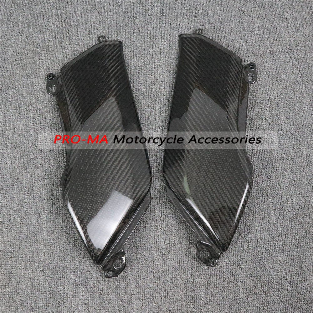 Fuel Tank Side Panel In Carbon Fiber For Kawasaki Z900 2017+ Twill Glossy Weave