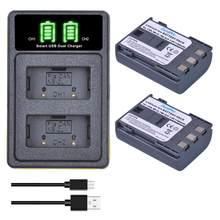 Batería de NB-2L de 1100mAh + cargador USB tipo C para Canon EOS 400D S80 S70 S50 S60 350D G7 G9 Kiss N x Rebel XT, 2 uds.