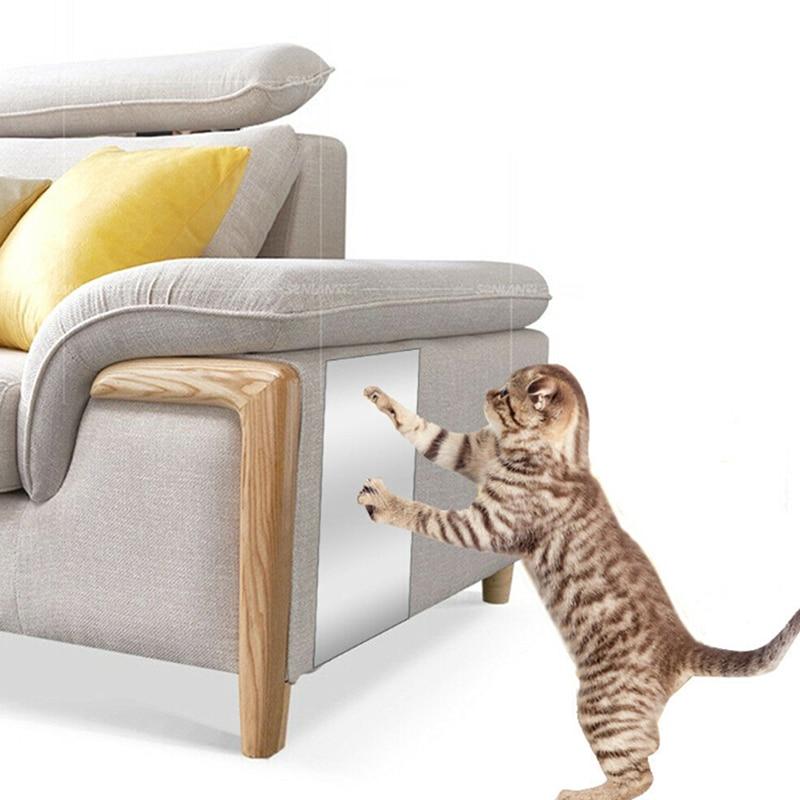 2PCS Cat Scratch Guard Furniture Protector Cover For Sofa Pet Cat Claw Scratching Guard Sticker For Leather Furniture