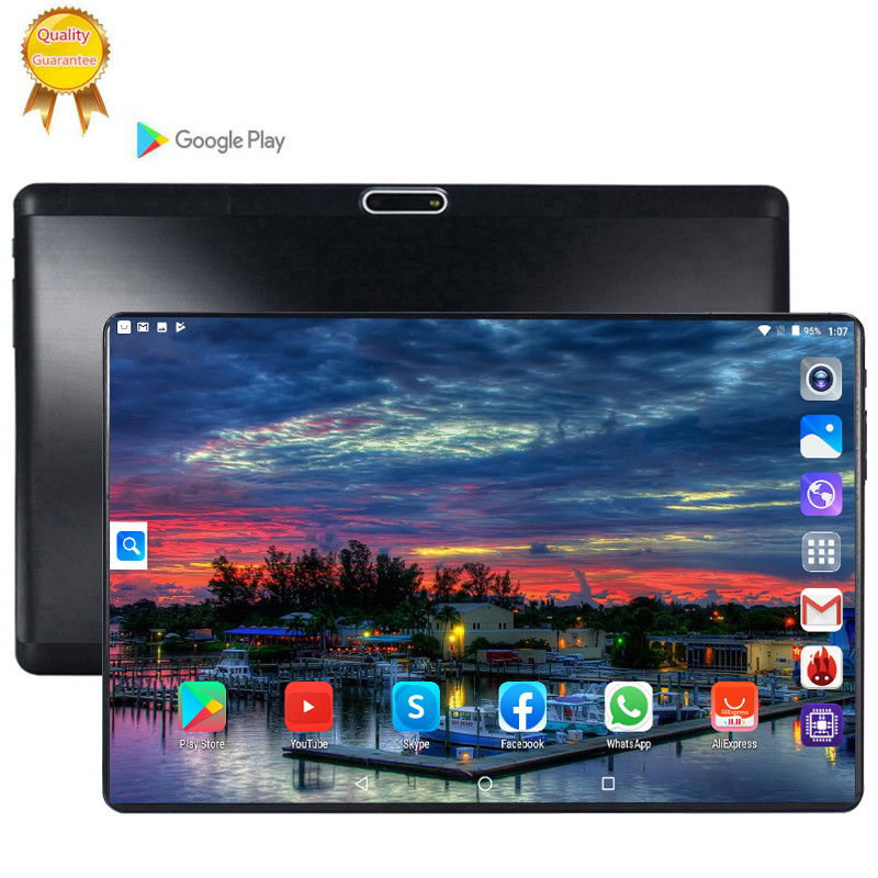 128G MID Global Bluetooth Wifi Phablet Android 9.0 10.1 Inch Tablet Octa Core 6GB RAM 128GB ROM Dual SIM Card 2.5D Tablet 9 10