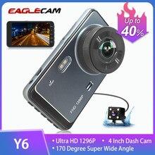 Carro dvr completo hd 1296 p 4 polegada traço cam visão noturna vídeo autoregister gravador de lente dupla câmera do carro camcorder dvrs