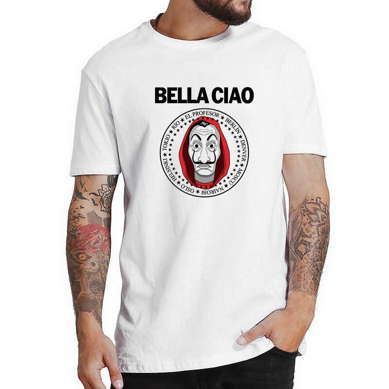 Camiseta engraçado la casa de papel camisa de filme t dinheiro roubo tees tshirts casa de papel masculina hombre manga curta