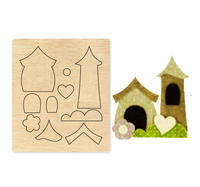 Pointed House Wood Dies Cut Mold Accessories for DIY Paper Card Making Photo Scrapbooking Decor Supplies Embossing Dies|Cutting Dies| |  -