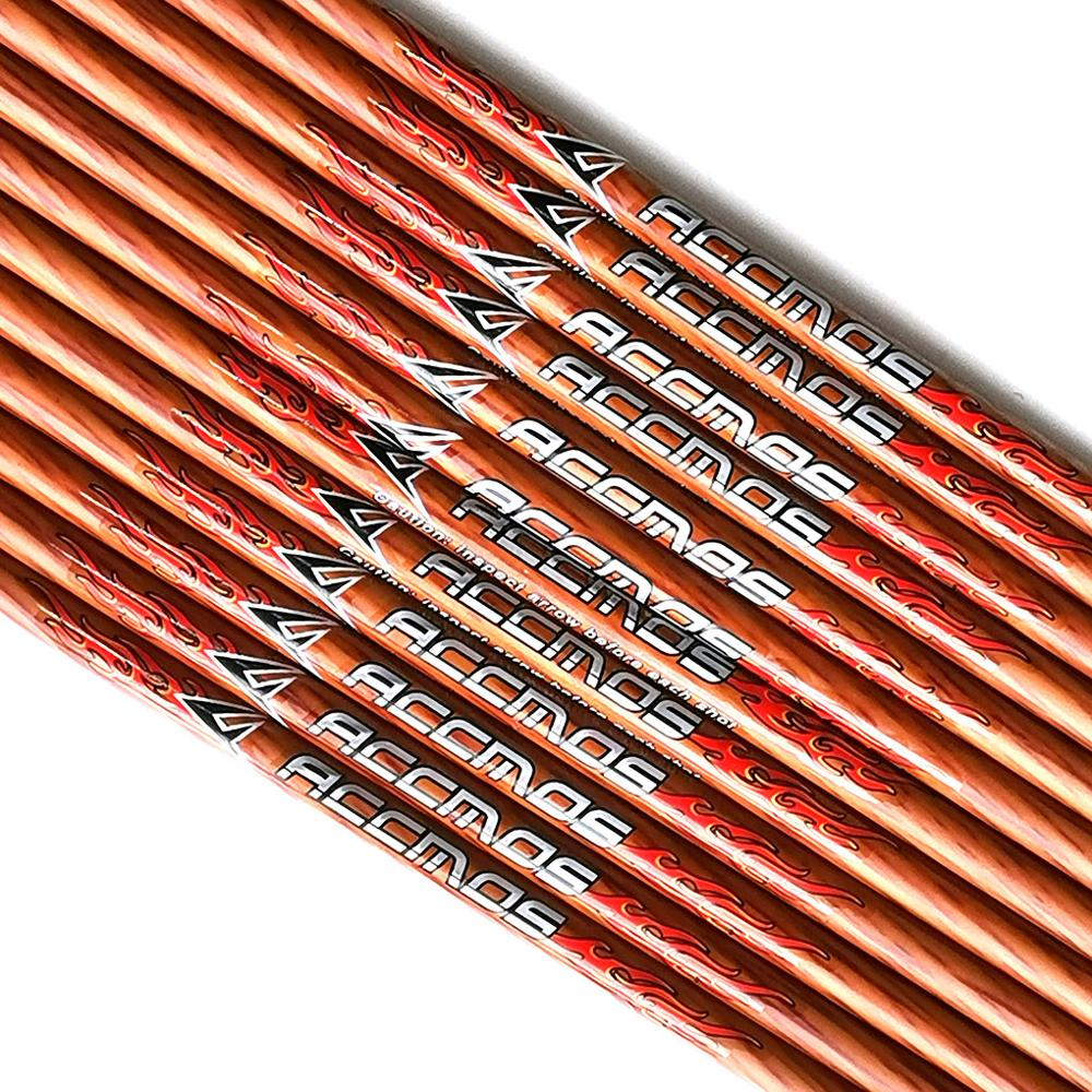 32 Inch Spine 400 450 500 600 700 Carbon Arrow Shaft Wooden Paint With Nocks ID 6.2mm Wooden Skin Carbon Arrow For Hunting