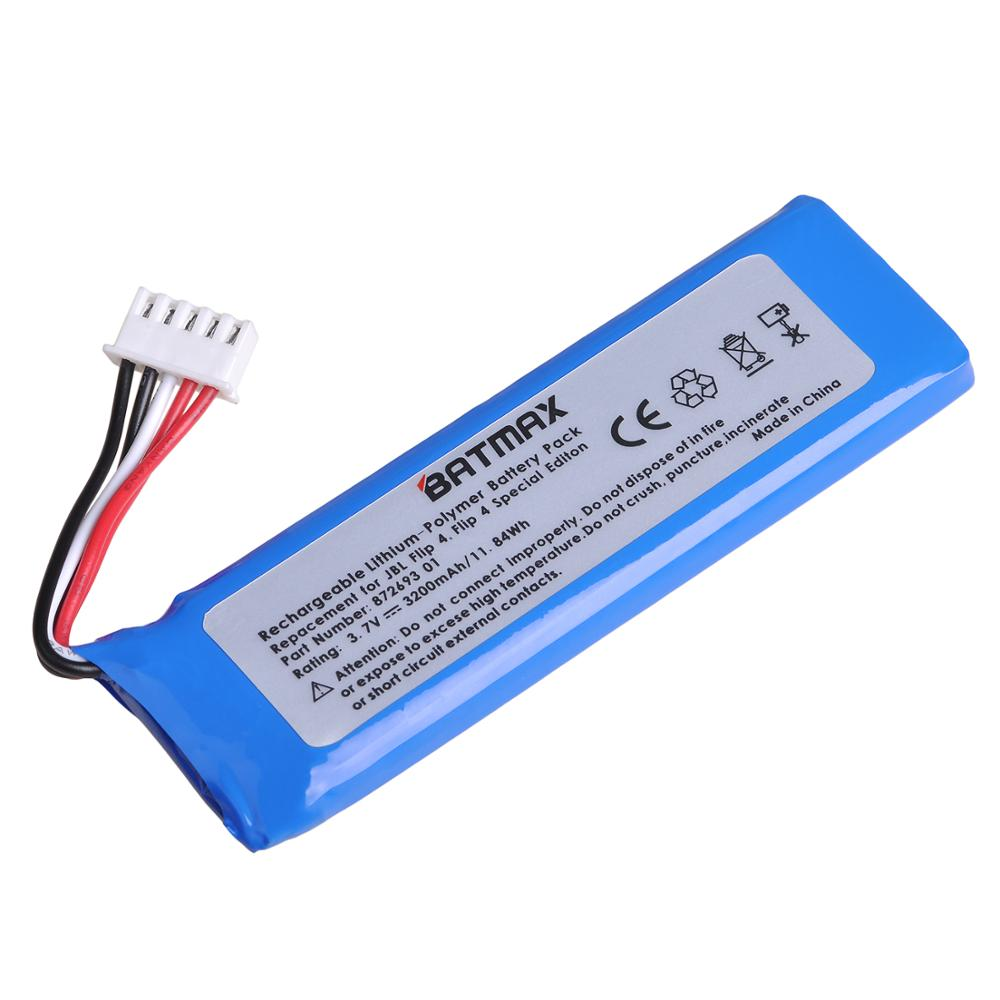 Batmax 3200 мАч батарея для JBL Flip 4, Flip 4 bluetooth динамик с установленными инструментами GSP872693 01