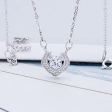 KOFSAC Fashion 925 Sterling Silver Pendant Necklace Women Jewelry Chic Design Full Zircon Heart Valentines Day Gift