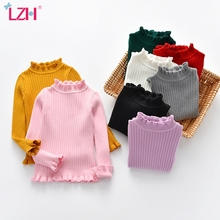 Childrens Sweater Pullover Knitted Winter Pure-Cotton New Warm Autumn LZH Soft Solid