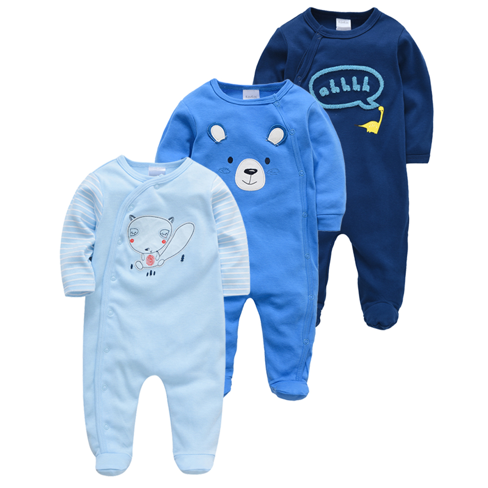 3pcs Newborn Girl Boy Pijamas Bebe Fille Cotton Breathable Soft Ropa Bebe Newborn Sleepers Baby Pjiamas
