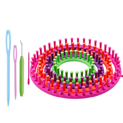 1 zestaw Knitting Loom Set długa  dzianinowa deska splot Loom przędza do robótek narzędzie do majsterkowania z szydełkowymi haczykami na czapkę szalik ponczo Knitter