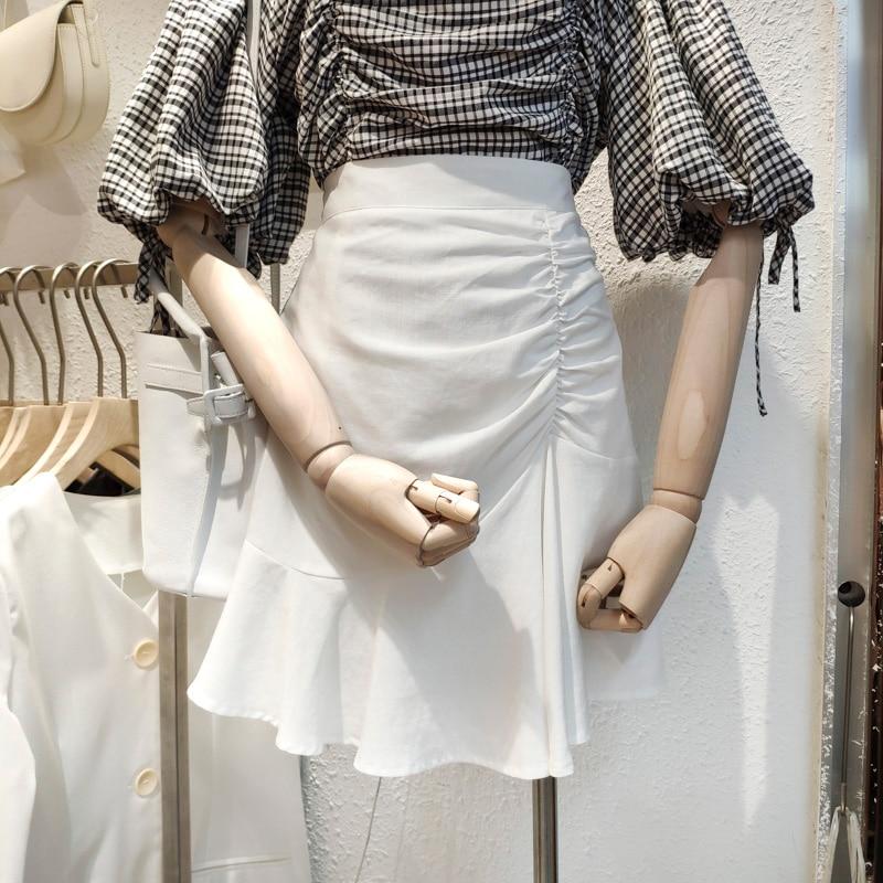 2020 Spring Lady Skirt  Sweet Soild Trumpet  Skirt AS0028