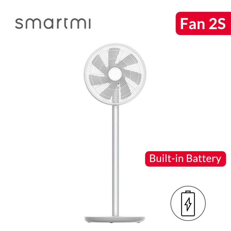 Smartmi 2S Floor Fan DC Frequency Conversion Pedestal Fans Home Rechargeable Portable Air Conditioner Natural Wind