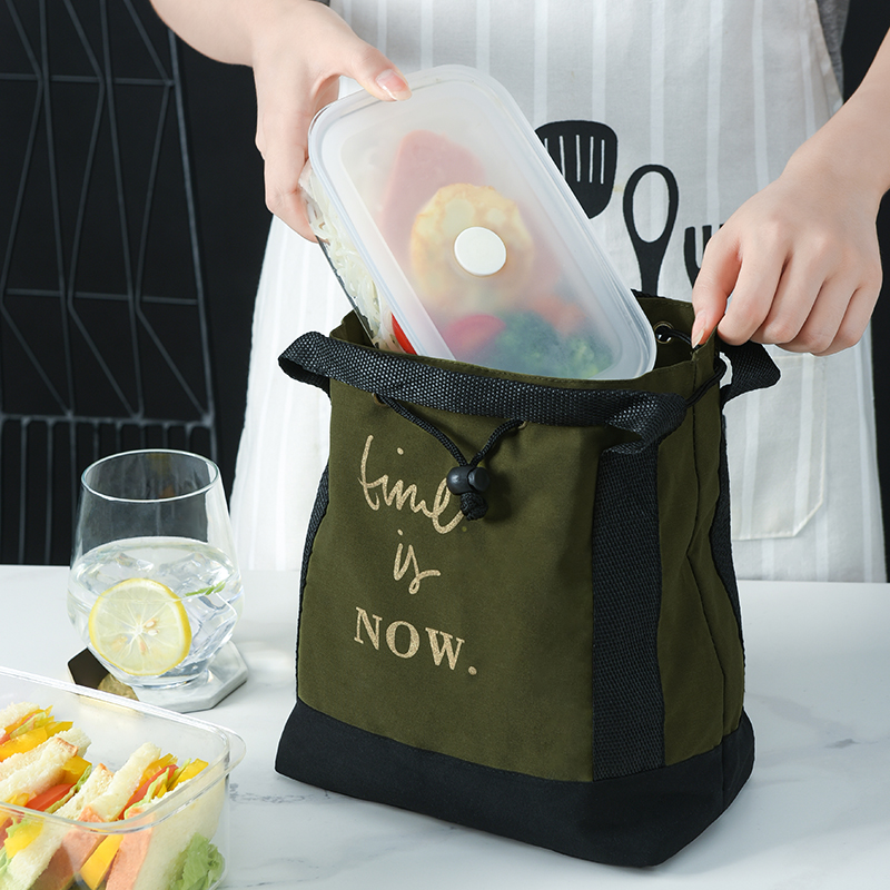Lunch Bag Fashion Portable For Work For School Insulation Bag Korean Style Thermal Cooler Picnic Tote High Quality For Women Kid