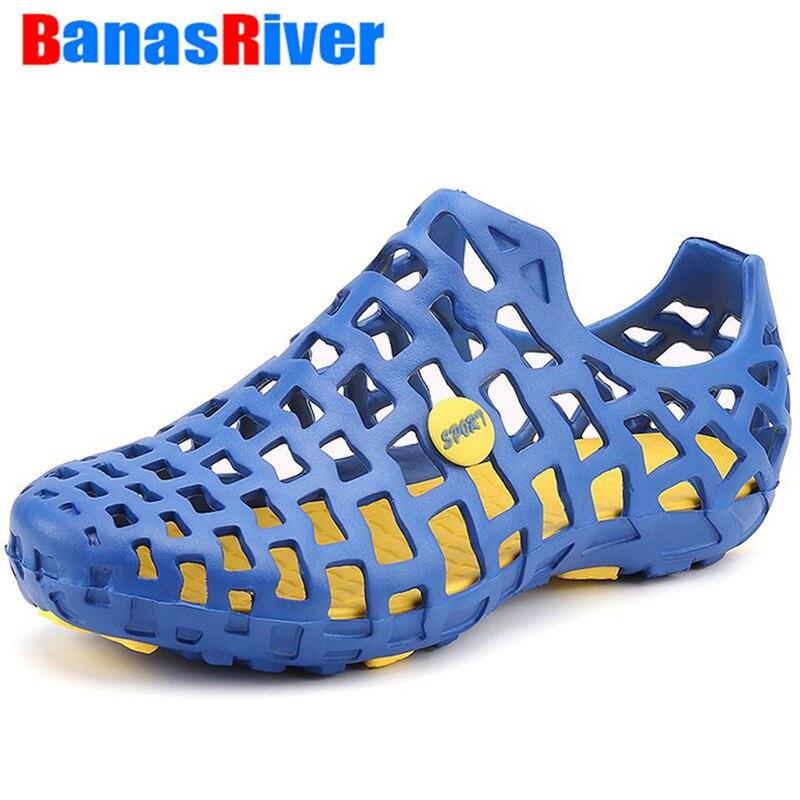 2020 Summer New Men's Clogs Sandals EVA Lightweight Beach Slippers Non-slip Mule Garden Shoes Casual Swimming Jelly Flip Flops