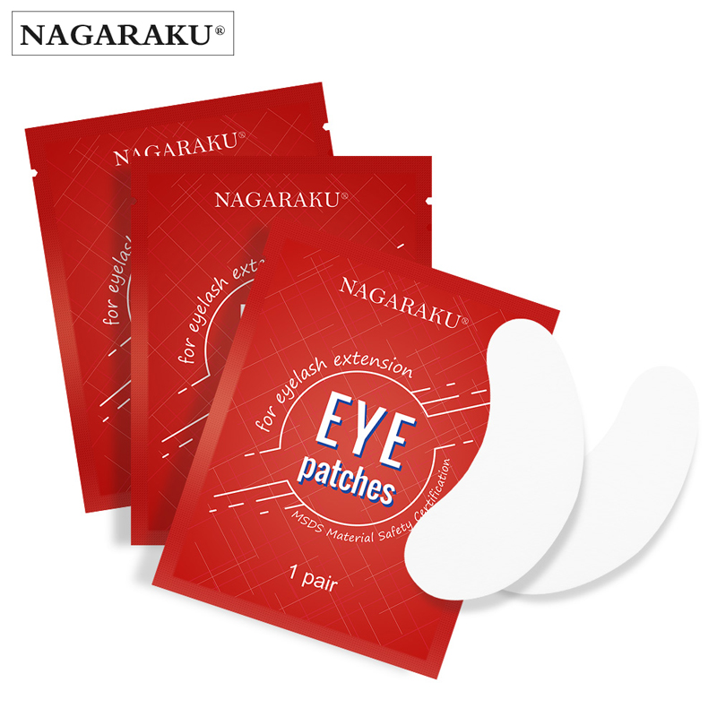 NAGARAKU Eyelash Extension Eyepads Gel Eyepads Hydrogel Eyepatch 40 Pairs Pack Under Eyepads Sticker Wraps Make Up Tools