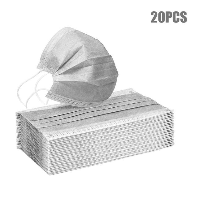 10/20/50/100pcs Disposable mouth mask diapers Earloop filter Non woven mouth masks 48 hours shipping 5