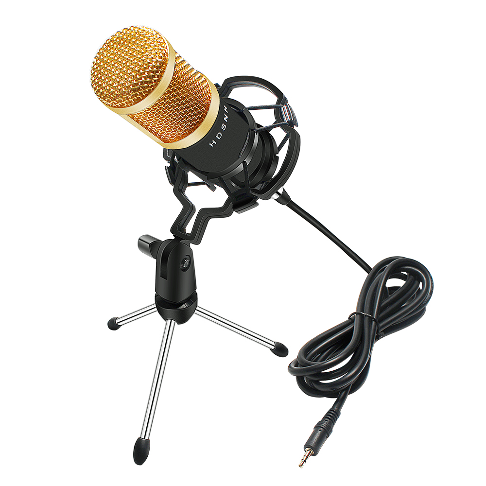 BM 800 Microphone Condenser Sound Recording Microphone Kit Shock Mount+Foam Cap+Cable  For Radio Broadcasting Singing