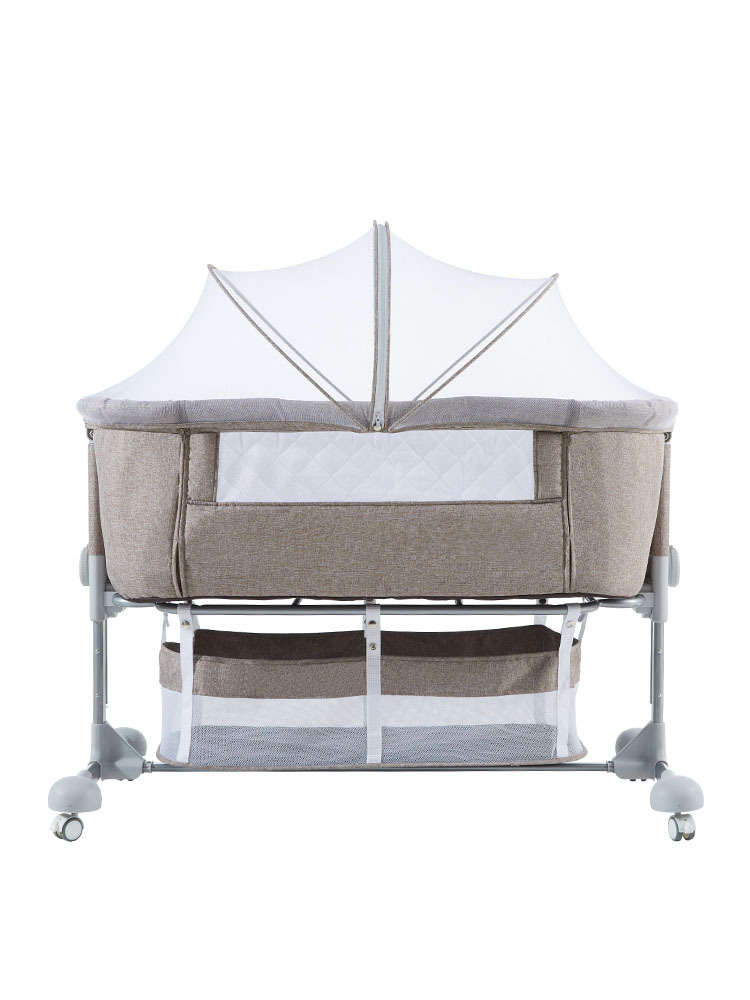 0845 Baby Cot  Bed Portable Folding Crib Newborn Baby  Bed