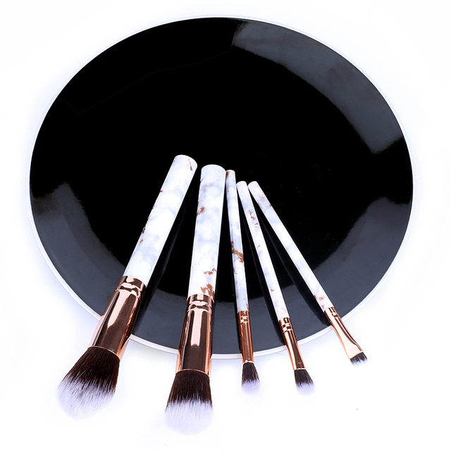 5/10pcs Set Of Makeup Fan Brushes Marble For Face Eye Cosmetic Powder Foundation Eye Shadow Cosmetics Soft Professional Eyebrows 2