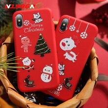 цена на N1986N For iPhone X XR XS Max 6 6s 7 8 Plus Phone Case Cartoon Santa Claus Christmas Tree Christmas Gift Soft TPU For iPhone XR