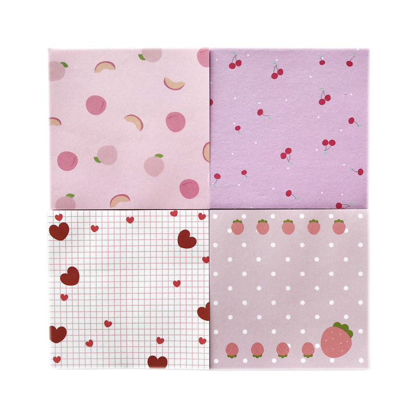 50 Pages/Pack Cute Heart Fruit Cherry Peach Strawberry Memo Pad Paper Notepad School Office Supply Student Stationery Kid Gift