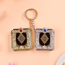 2019 Fashion Jewelry Mini Arabic Quran Quran Islamic Islamic Allah Real Paper Can Read Pendant Keyring Fashion Religious Jewelry