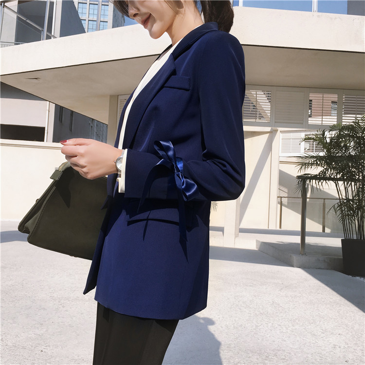 New Brand 2020 Autumn Elegant Blazer Woman One Button Blaser Feminino Outwear Office Jacket Lady Work Wear Tops LX2197