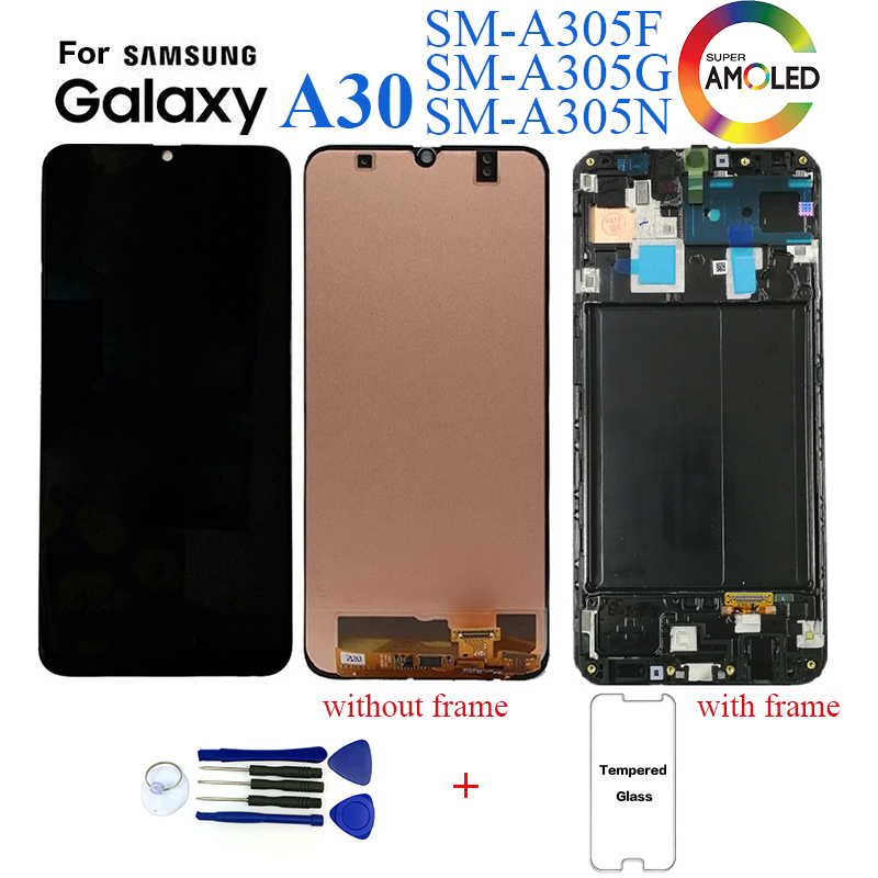Original For <font><b>Samsung</b></font> Galaxy <font><b>A30</b></font> SM-A305F Display <font><b>lcd</b></font> Screen replacement for <font><b>Samsung</b></font> <font><b>A30</b></font> A305 A305F display <font><b>lcd</b></font> screen module image