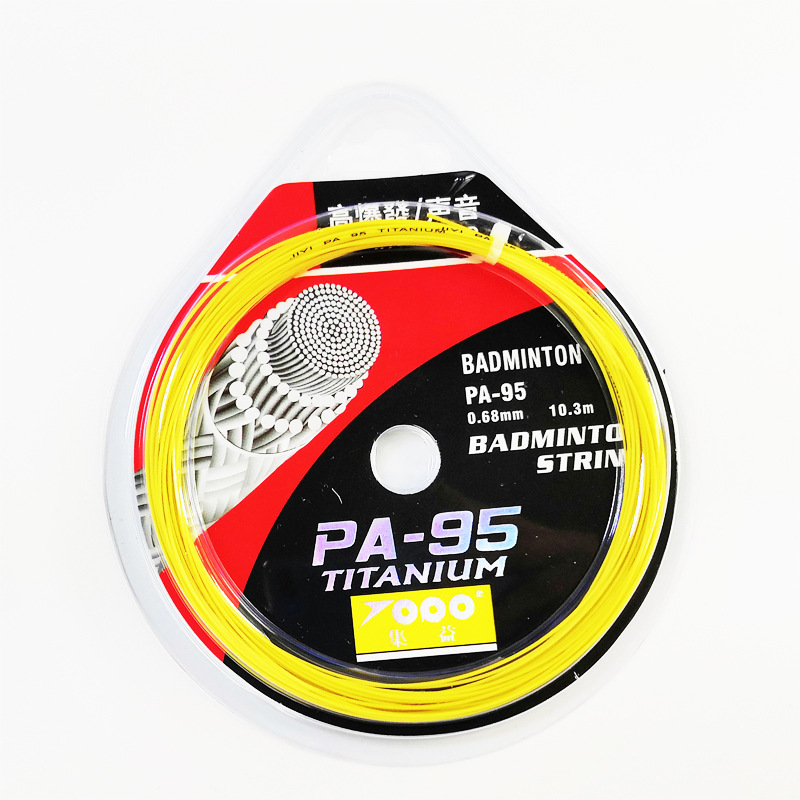 Topo Badminton Racket String PA-95/65/66/85/80 Durable Preserving Pull High Pound Customizable