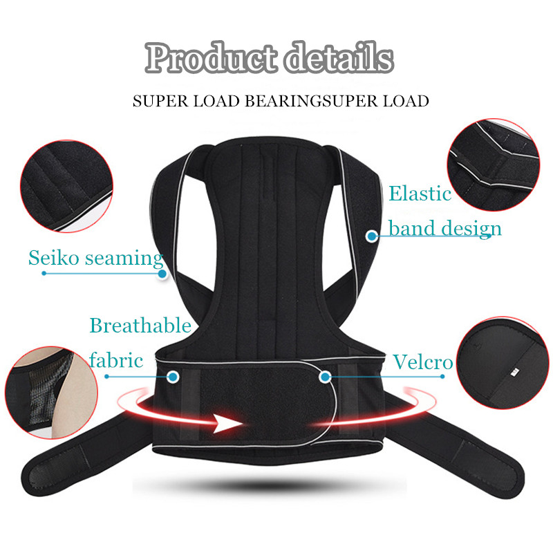 Tlinna Adjustable Posture Corrector Belt Made of Breathable Neoprene with 2 Aluminum Support Plate to Maximize Flexibility Helps to Shape Body Posture 4
