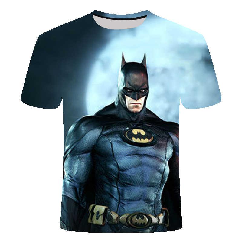Nuovo Spiderman super hero 3d printed t shirt superman batman hero Maglietta hip hop a maniche corte t-shirt Magliette E Camicette tee formato Asiatico