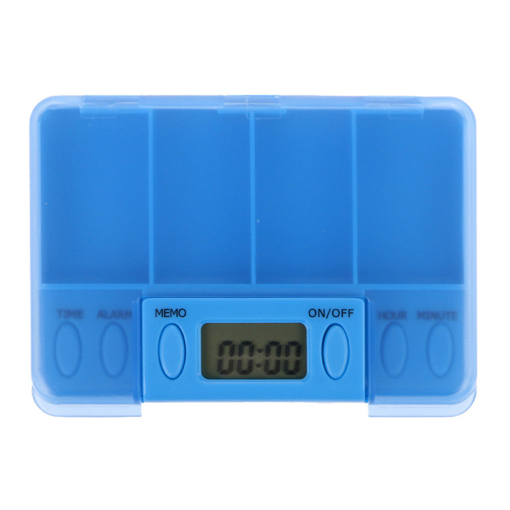 4 Grids Timer Electric Alarm Organizer Battery Powered Pill Box Splitters LCD Portable Home Use Medicine Reminder Smart Travel
