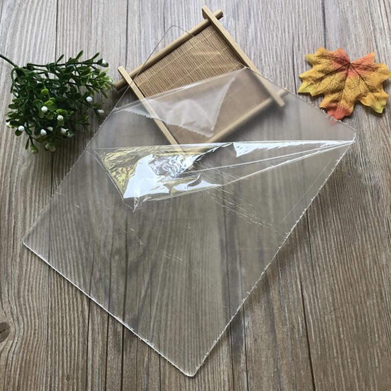 Clay Sculpture Acrylic Rolling Pin Mat Plexiglass Engraving Sheet Clay Sculpture Handmade Pastry Mat Perfect 24*19*0.3cm