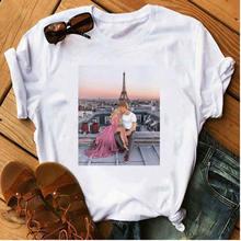 Женская модная футболка с принтом в стиле Харадзюку милая для