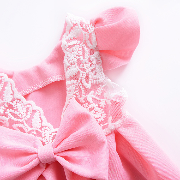 H27045bebc7934439bfd77a4e0c2beda0q Girls Dress 2018 Summer Explosion Solid Color Denim Dress Cartoon Polka Dot Bow Cartoon Bunny Satchel Korean Baby Cute Dress