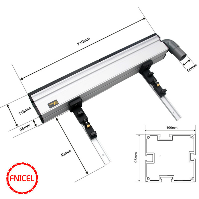 Tools : Aluminium Profile Fence with Scale and Sliding Brackets Tools for Woodworking DIY Workbench