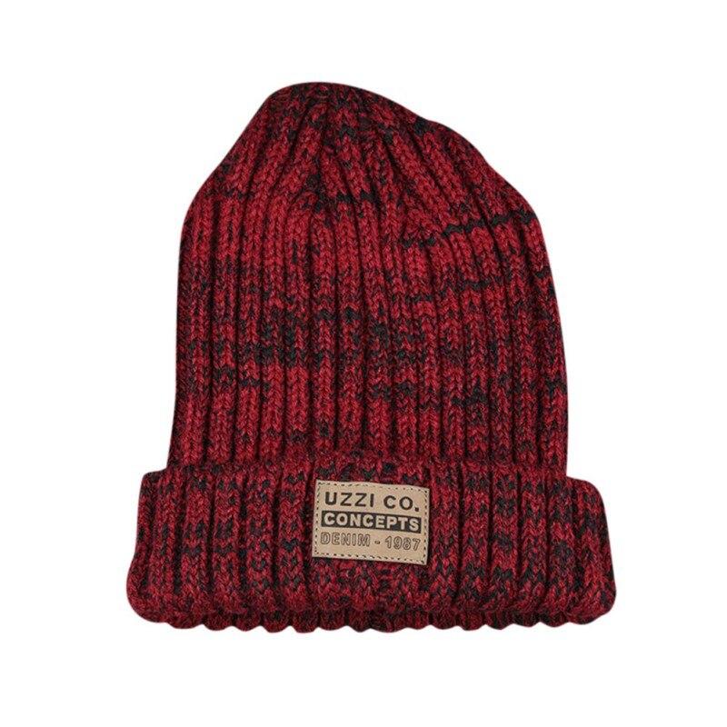 Женские Простые шапки бини для девочек, женские шапки в стиле хип-хоп, хлопковые однотонные теплые мягкие вязаные шапки в стиле хип-хоп, мужские зимние шапки - Color: XG1266JR