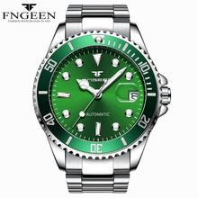 FNGEEN Mens Fashion Luxury Automatic Mechanical Watch Stainless Steel Waterproof