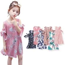 SheeCute Children Dresses Kids Girl Sleeveless Flower Print Cotton Dress Baby Girl Spring Summer dresses for girls PDD001 все цены