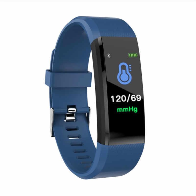 Montre numérique intelligente pour hommes femmes bracelet intelligent Fitness Tracker pression Sport montre moniteur de fréquence cardiaque bande