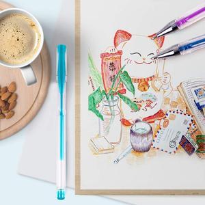 Image 4 - 100สีปากกาเจลปากกาBack To School 0.5Mm GlitterปากกาสำหรับเขียนHighlighters Kawaiiโรงเรียนชุดอุปกรณ์