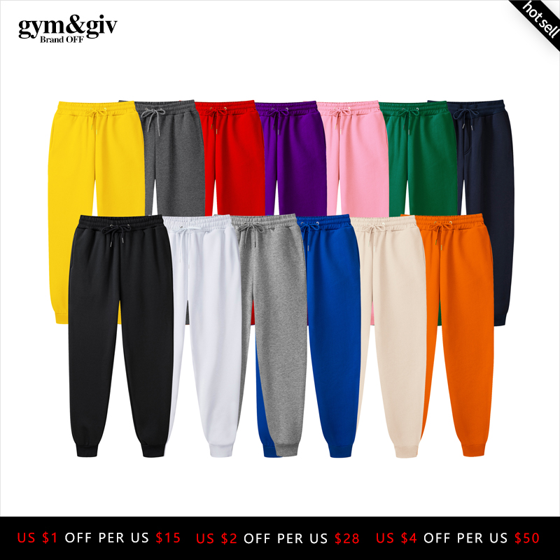 2019 New Men Joggers Brand Male Trousers Casual Pants Sweatpants Jogger 13 color Casual GYMS Fitness Workout sweatpants